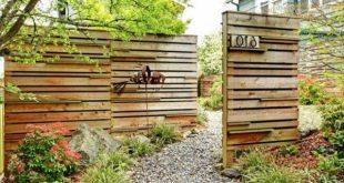 Wooden Garden Fence - Tolle Ideen - Archzine.net
