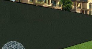 BOEN 6 Fuß x 100 Fuß langlebiger schwarzer Sichtschutzzaun, Netzgewebe mit aluminiumverstärkten Ösen, UV-behandelt
