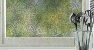 Crazy Paisley Blickschutzfolie - Schwarz (nicht klebend) - Groß 48 Zoll x 84 Zoll
