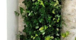 #DIY #Innenarchitektur #Pflanzen # Grüne Oase Ein vertikaler Garten als grünes Altern ...