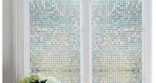 Dekorative Glasmalerei Fensterfolie nicht klebende Sichtschutzfenster - Mini-Mosaik ...