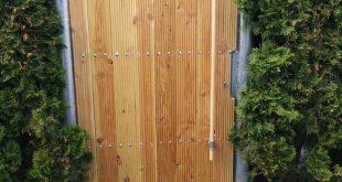 Gartentor, Gartentor, verzinkt, Holz, dekorativ, Metall, Privatsphäre