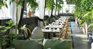 Gramercy Terrace Dachrestaurant, NYC ... Ich mag die Verwendung von Grün als Schatten für ...