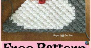 Häkeln Sie Santa Pixel Square - kostenlose Muster