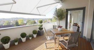 Illustration von gemütlichen Balkon-Privatleben-Entwürfen für Häuser u. Wohnungen