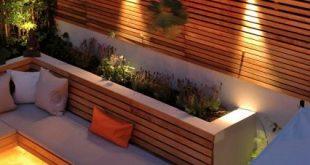 London Garden verwendet Western Red Cedar Slatted Screens für Privatsphäre, ohne ...