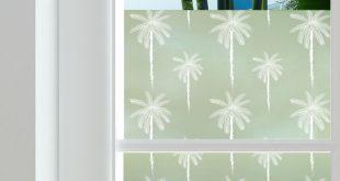 Palms Privacy Window Film - Zum Abtönen von Fenstern zu Hause