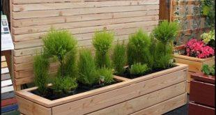 Pflanzgefäß aus Holz selbst gebaut