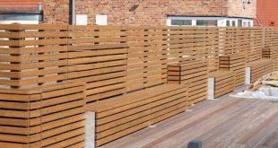 Pflanzgefäß mit Sichtschutz / Ecke aus heimischem Holz, Douglasie für Dach .....