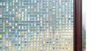 Rabbitgoo 3D-Fensterfolien Blickschutzfolie Statische Dekorfolie Nichtklebende Wärmesteuerung Anti-UV