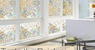 Rabbitgoo 3D No Glue statische dekorative Sichtschutzfolien für Glas nicht klebend ...