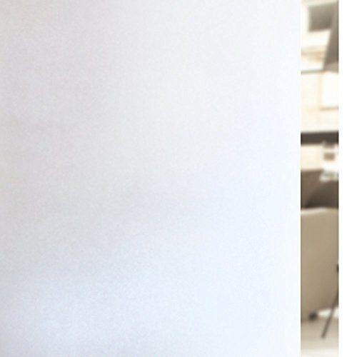 Rabbitgoo Privacy Fensterfolie Mattweiße Fensterfolie Mattierte Fensterfolie Statisch haftende Glasfolie Nicht klebende Fensterfolie für das Badezimmer zu Hause Büro Besprechungszimmer Wohnzimmer 17,7 x 78,7 Zoll