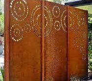 Rusty dekorative cortenstahl balkon privatsphäre fenstergitter, View High quality b ...