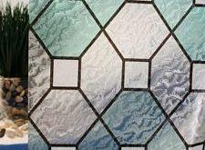 Sichtschutzfolie aus grünem Bleiglas