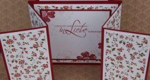 Stampin UP, Hochzeitskarte, Z-Gate Tag Fold Card, Hochzeitskarte, Chili - Verena Bömeke