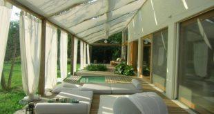 Vorhänge-Jalousien Sonnencreme Terrasse Lounge-Anlage