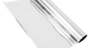 1 Mt * 50 CM Privatsphäre Fensterfolie Einwegspiegel Silber Isolierung Aufkleber UV ...