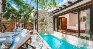 Ein einzigartiges Haus am Meer im Herzen von Tulum Beach. Die Villa verfügt über atemberaubende ...