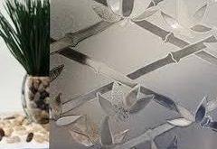 Glasscheibe Bambus Sichtschutzfolie