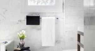 68 trendige Muster für Fensterbehandlungen im Bad