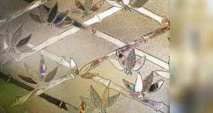 90x200CM Bambus Blume Privacy Window Film 3D nicht klebende dekorative statische Kl ...