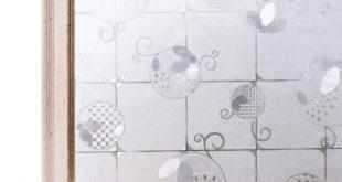 BAUMWOLLFARBEN 35,4 Zoll B x 78,7 Zoll L Dekorative und Sichtschutzfolie für 3D-Fenster