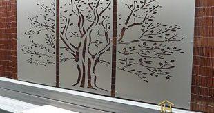 Baum des Lebens Triptychon - DIY dekorative Bildschirme Indoor / Outdoor Garten Wandkunst