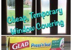 Benötigen Sie mehr Privatsphäre von Ihren Fenstern? Günstige temporäre Abdeckung.