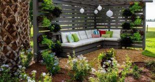Bildschirm mit Pergola - schöne Gartengestaltung