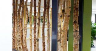 Birken-Stamm-Schirm u. Kundenspezifischer Rahmen | Dekorative Birke, Zweige, Bäume & Log ...