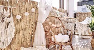 Boho-Möbel für den Balkon: Es ist Zeit, die Terrasse zu dekorieren. Wir alle träumen ...