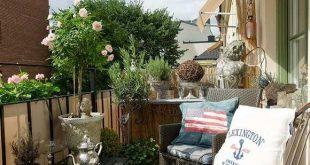 Canvas Privatsphäre für den Balkon, Palisaden, Pflanzen und Markisen