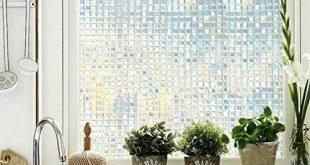Coavas dekorative nichtklebende Fensterfolie GF45-02-35 Glasfolie17,7 x 78,7 Zoll