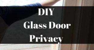 DIY Glastür Datenschutz Hack