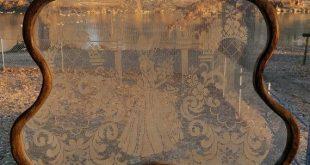 Dutch Lace Screen Vintage gerahmte Spitze dekorative Sichtschutz Bonnet Girl Decor viktorianischen Dekor Bauernhaus Französisch