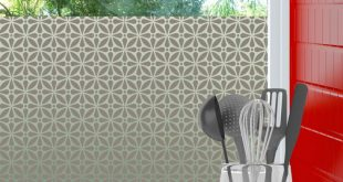 Geo Flora Privacy Window Film für die Fenstertönung zu Hause