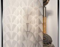 Geprägter Fächer - DIY dekorative Sichtschutzfolie