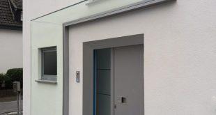 Glasvordach DURAVENTO mit Glasscheibe | Glasprofi24