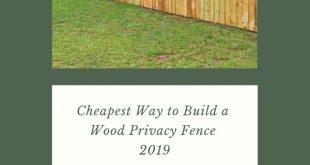 Günstigster Weg zum Bau eines Holz-Sichtschutzzauns 2019