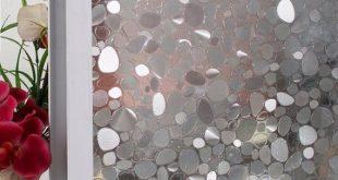 """Kein Kleber Fenster Kiesel Dekorfolie Privacy Film Jazmin für Home Küche Wohnzimmer 19,6 """"x 78,7"""""""
