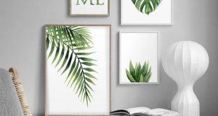 Monstera-Plakat. Monstera-Blatt. Tropische Blätter. Über dem | Etsy