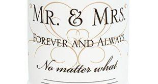 Mr & Mrs Ceramic Stoneware Electric Kerzenwärmer für große Gläser