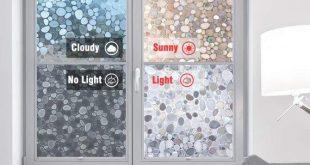 Pebble Static Stained Glass Film Sticker Sichtschutzfolie Nicht klebende Folie Dekorative Wärmeübertragung auf Vinyl