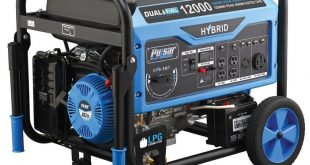 Pulsar 5,250 / 4,250-Watt-Zweistoff-Benzin- / Propangas-Rückstoß-Startgenerator mit tragbarem 224-cm³-Ducarmotor