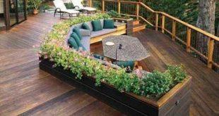 SEHEN SIE SICH DIESE DECKS AN !! Rundum eingearbeitete Sitzmöbel ... einfache florale Akzente ... ...