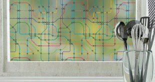 Transit Privacy Window Film - Farbe (nicht klebend) - Groß 48 Zoll x 84 Zoll