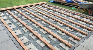 Unterkonstruktion richtig verlegen. Beispiel Holzart Bangkirai #terrasse #terras ...