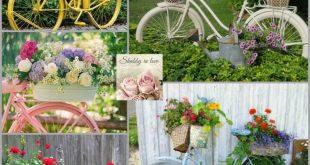Vintage Bicycle Planters: Ich würde einen von ihnen lieben. Vielleicht nächstes Jahr.