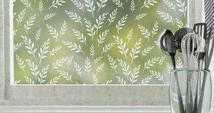 Wild Oats Privacy Window Film (nicht klebend) - Standard 36 Zoll x 48 Zoll