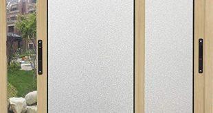 Coavas Frosted Privacy Fensterfolie (ohne Kleber) Statisch haftende Fensterhaftung für zu Hause Badezimmer Wohnzimmer Büro Besprechungsraum Glas Fenstertür